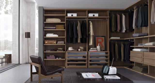 Xu hướng tủ quần áo âm tường phòng ngủ cho biệt thự hiện đại 3 tầng