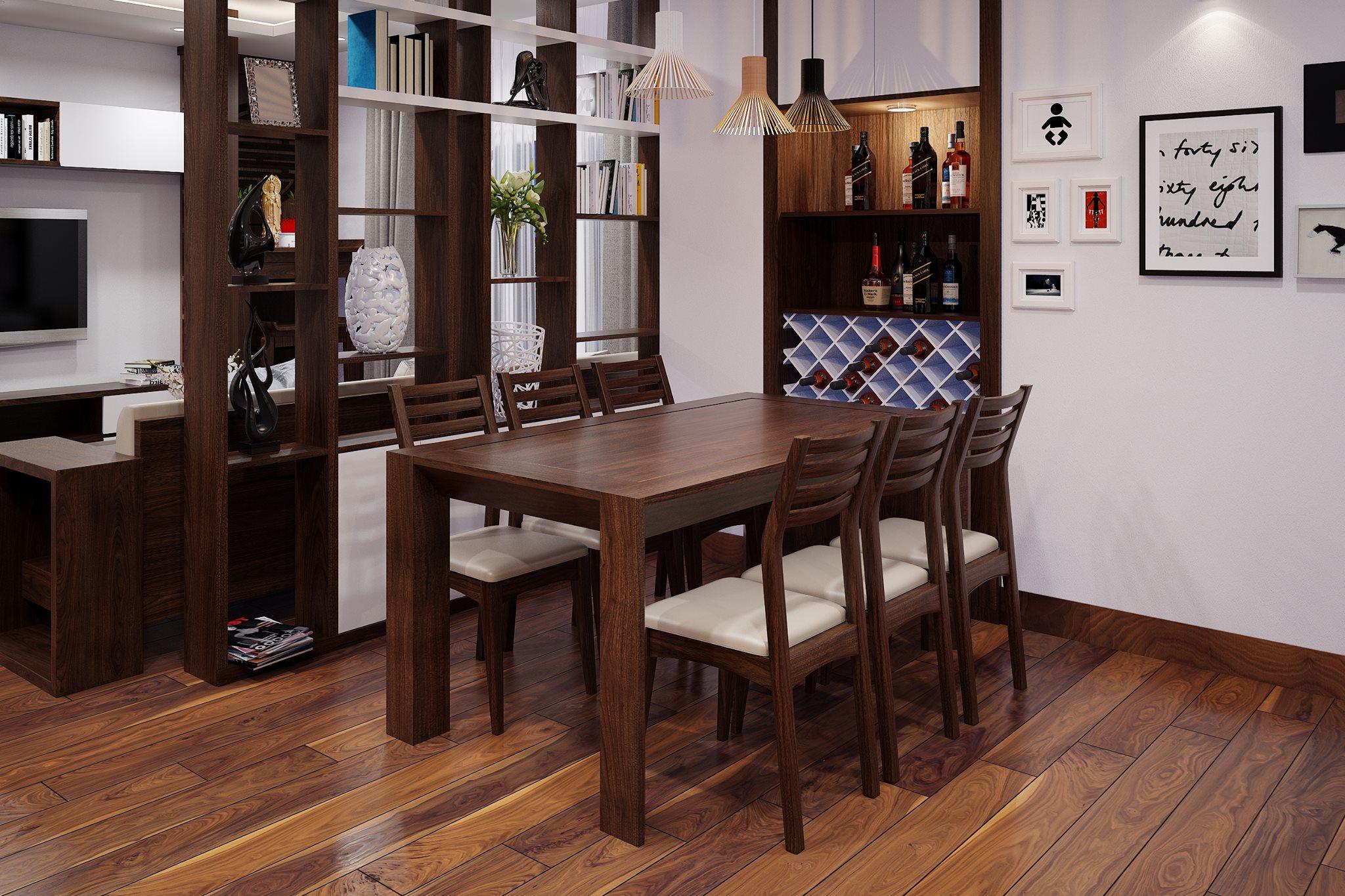 Những lỗi phong thủy khi đặt bàn ăn cho mẫu biệt thự 3 tầng 2 mặt tiền