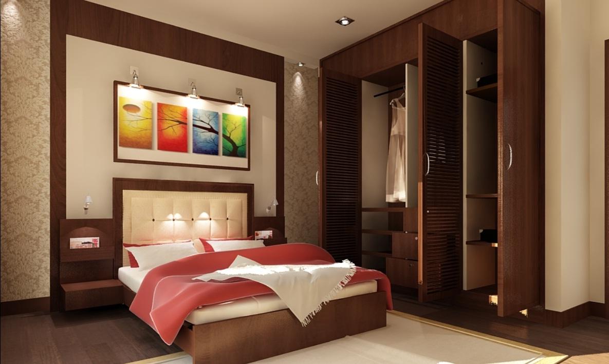 Những lưu ý trong cách bố trí nội thất phòng ngủ biệt thự 2 tầng mái thái đẹp