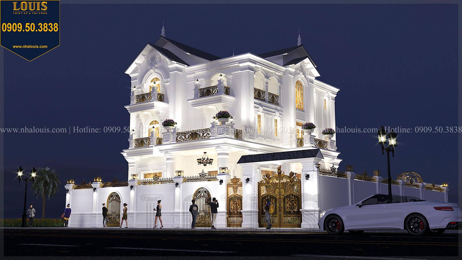 Thiết kế kiến trúc biệt thự tân cổ điển đẹp hoa lệ 1