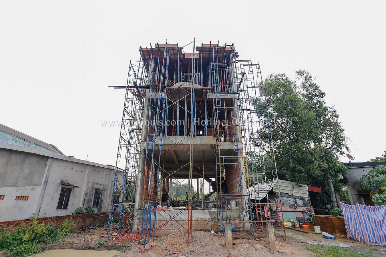 Dự án thi công biệt thự 3 tầng đẹp hoa lệ tại Đồng Nai