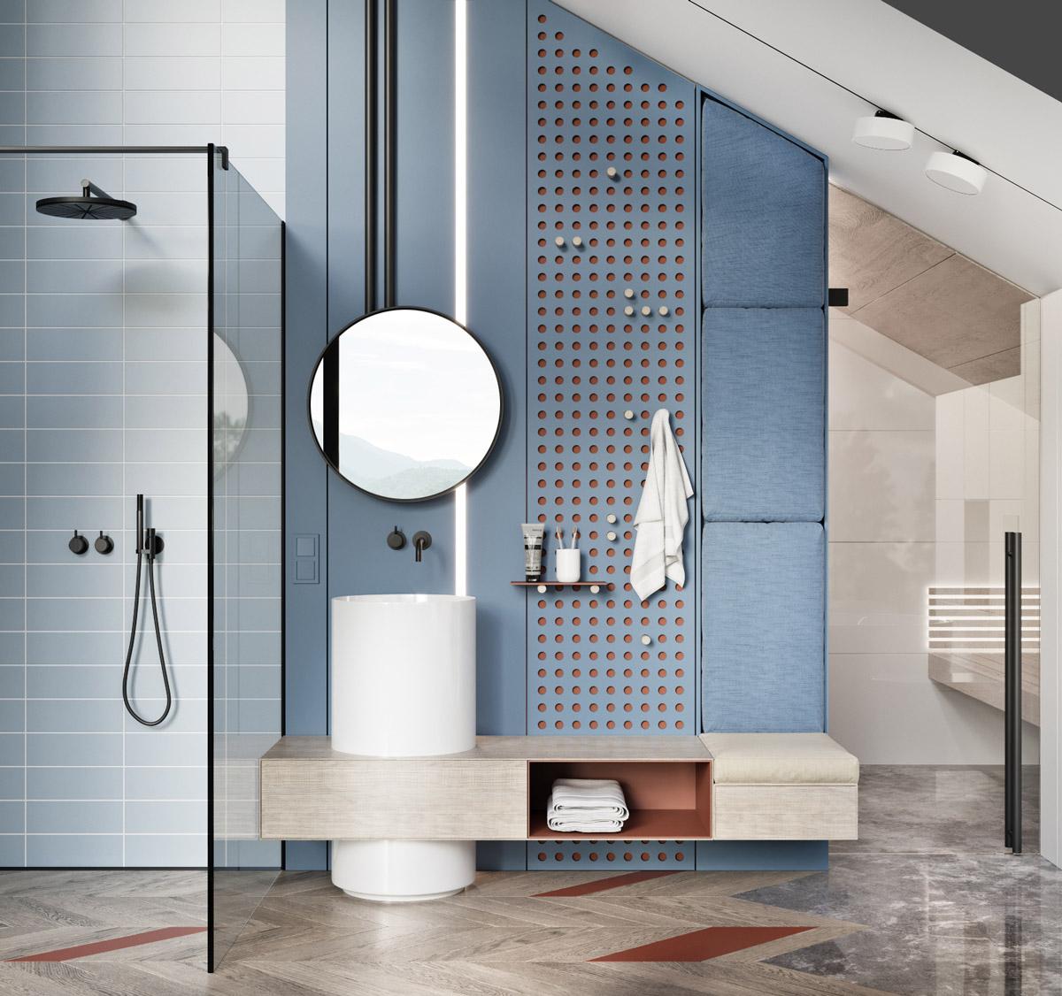 Những lưu ý khi thiết kế nội thất phòng tắm biệt thự xu hướng hiện đại 02