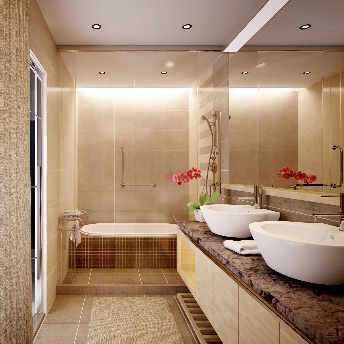 Những lưu ý khi thiết kế nội thất phòng tắm biệt thự xu hướng hiện đại 03