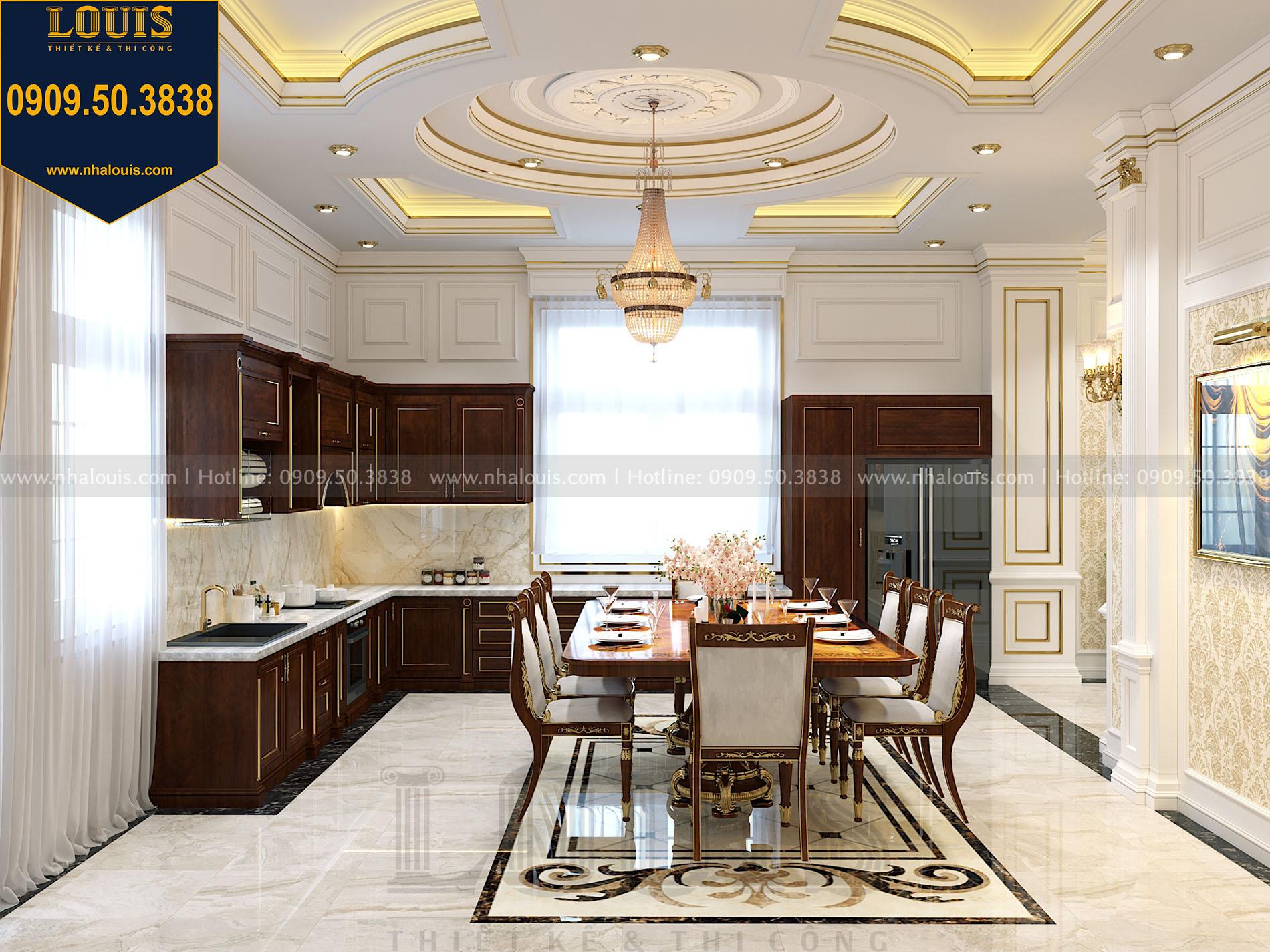 Phòng bếp biệt thự 2 tầng mặt tiền 9m