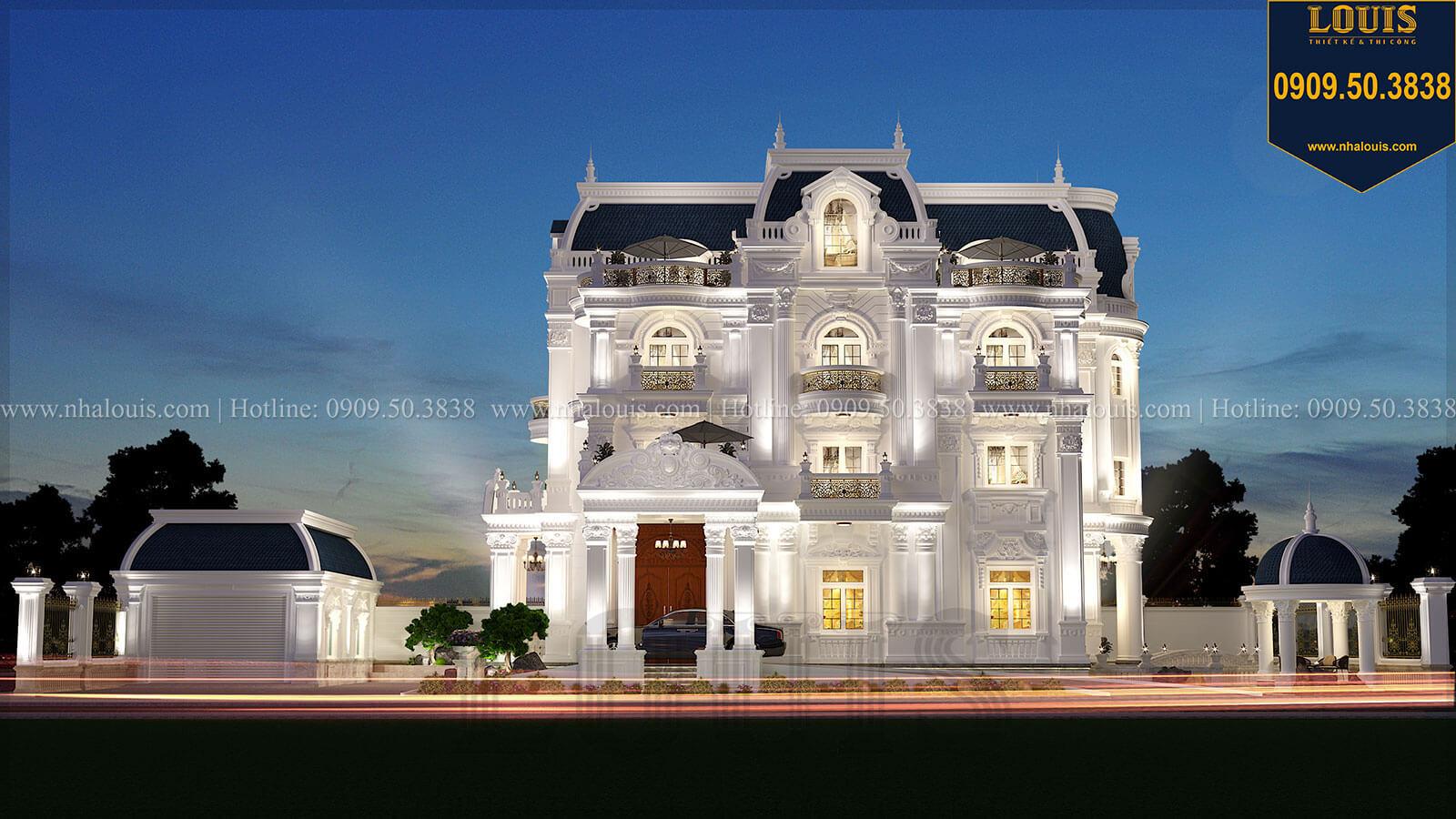Đẹp sang trọng với biệt thự 4 tầng 2 mặt tiền phong cách cổ điển