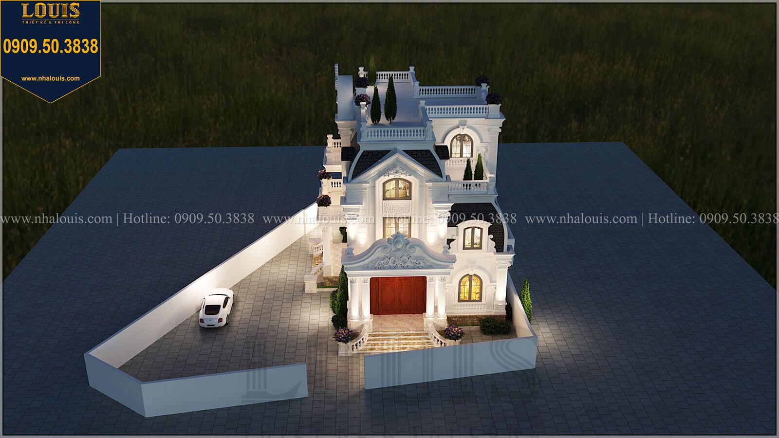 """Biệt thự 4 tầng tân cổ điển đẹp """"đốn tim"""" tại Nha Trang"""