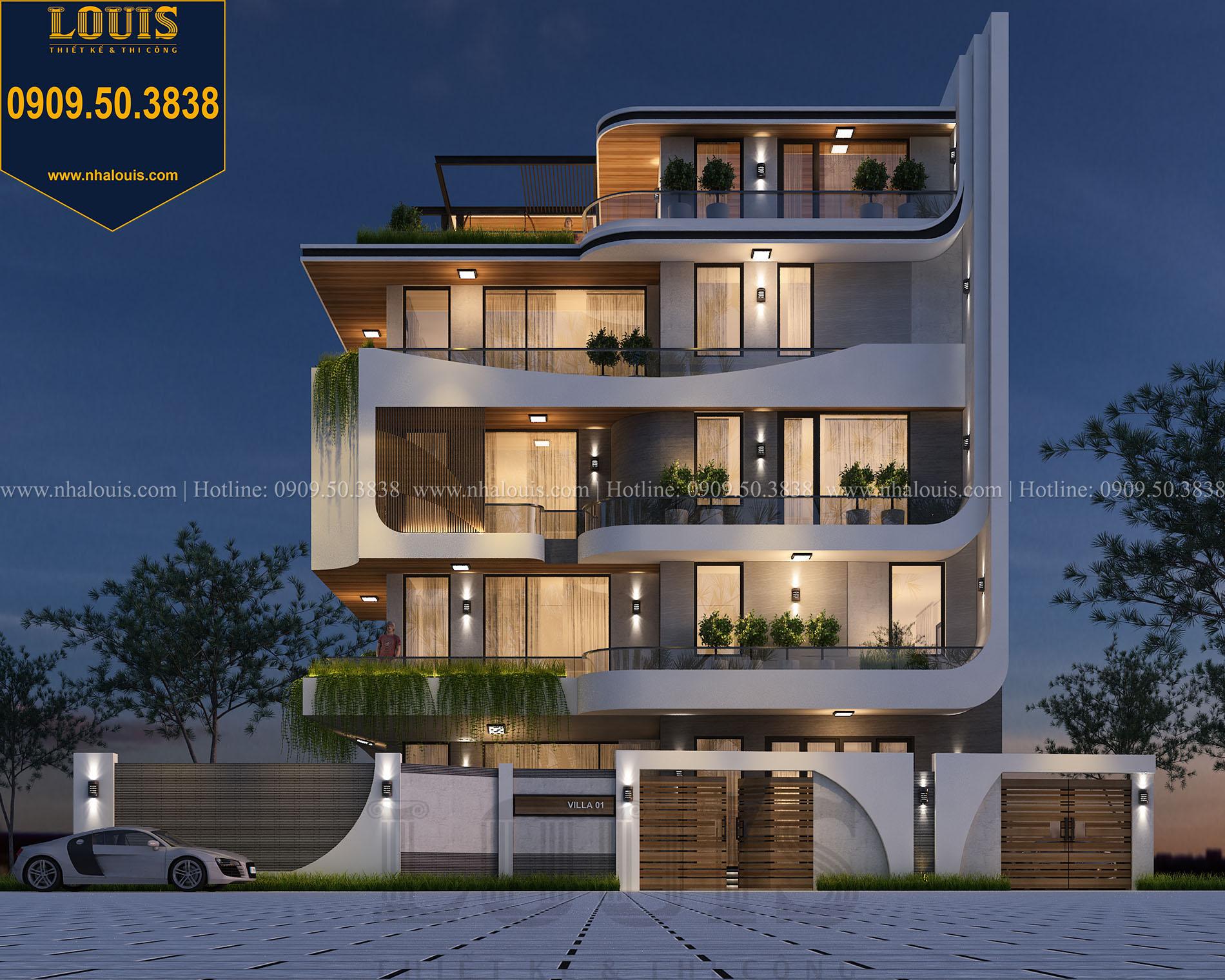 Chiêm ngưỡng ngôi biệt thự 5 tầng hiện đại đẹp như mơ tại Nha Trang