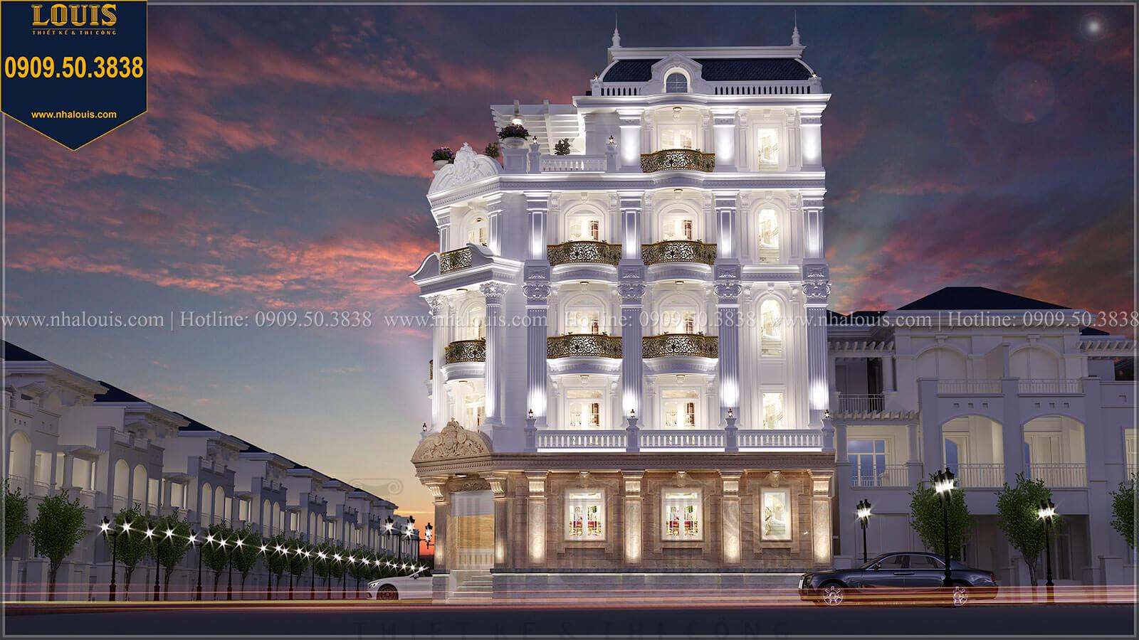 Thiết kế biệt thự đẹp 2 mặt tiền phong cách cổ điển tại quận 11