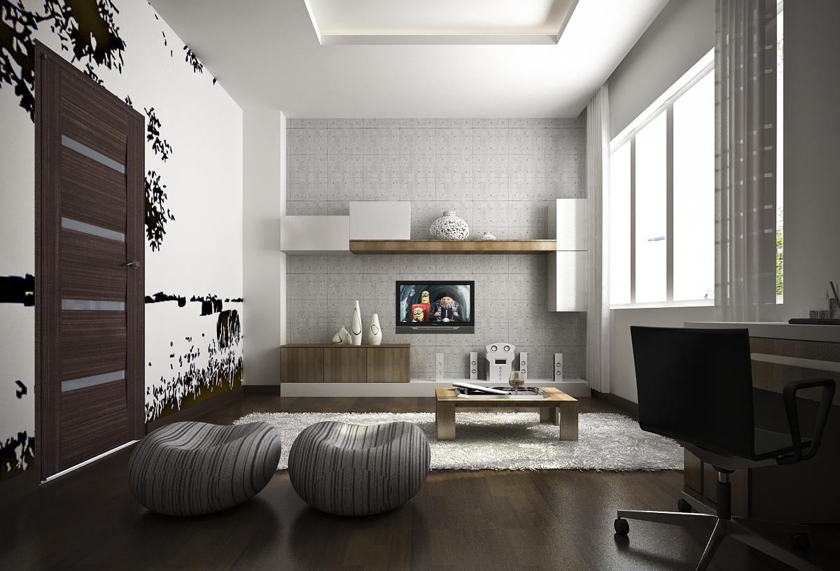 Không gian nội thất cho phòng sinh hoạt chung đẹp cần được thiết kế vách ngăn trang trí, để các thành viên gắn kết cùng nhau vui chơi, giải trí
