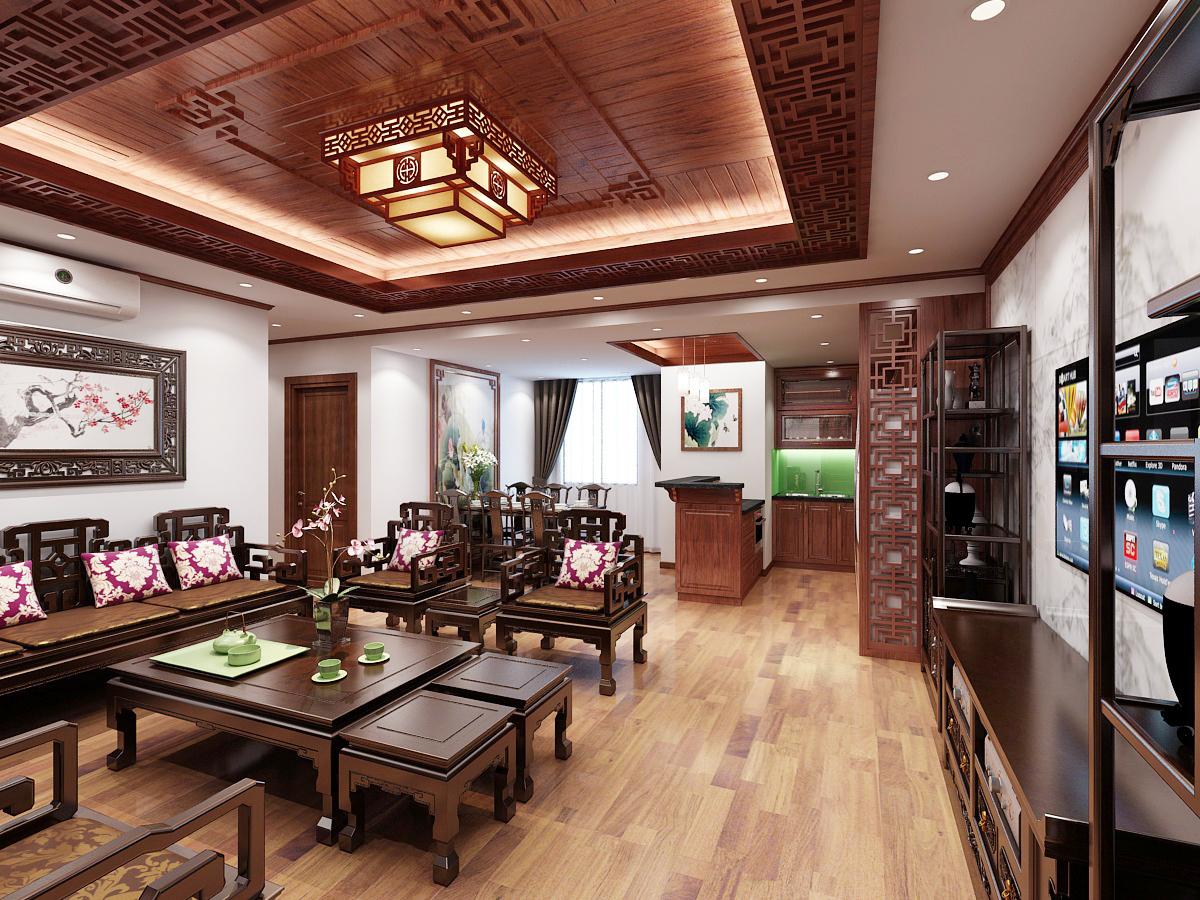 Sự giản đơn của phong cách Á Đông còn nằm ở các thiết kế nội thất bên trong ngôi nhà