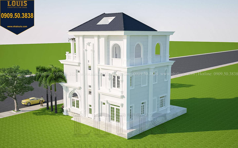 Tinh tế với thiết kế biệt thự tân cổ điển 3 tầng tại Vũng Tàu