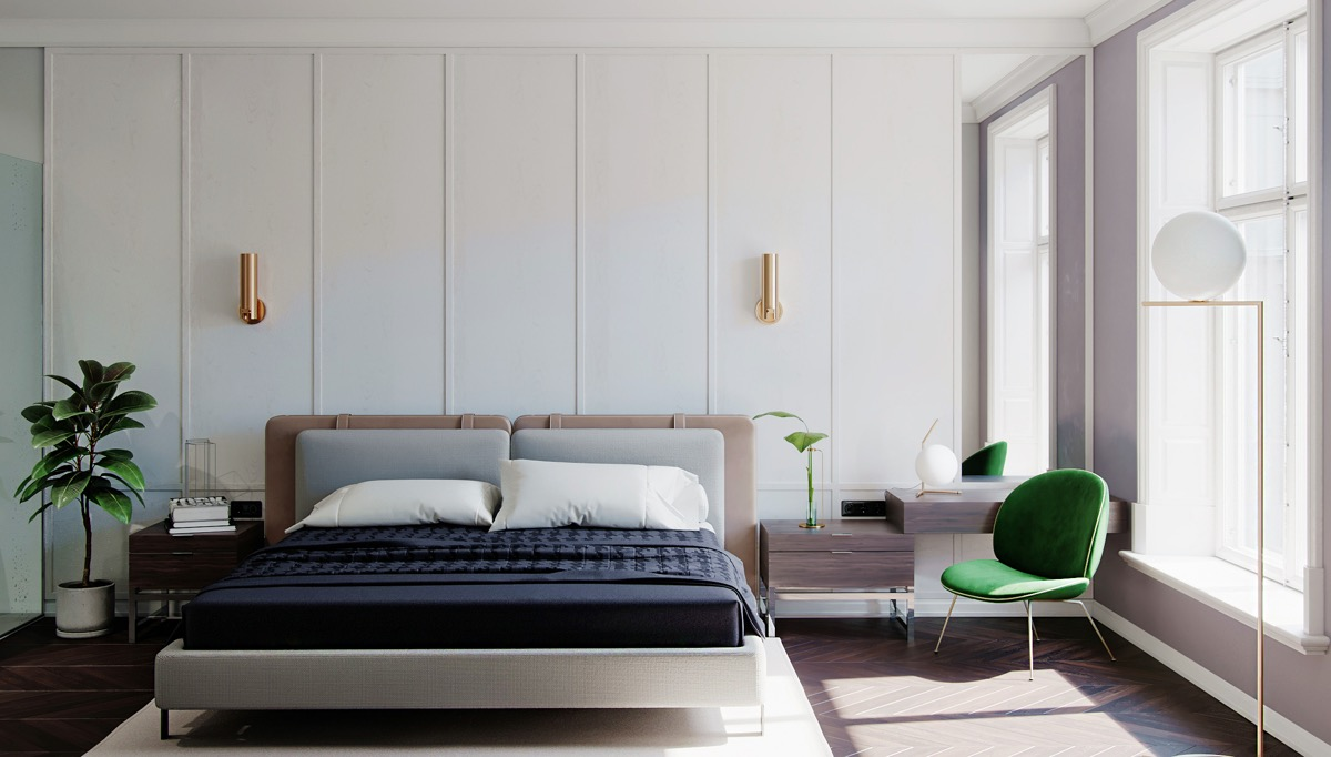 Phòng ngủ tông màu trắng