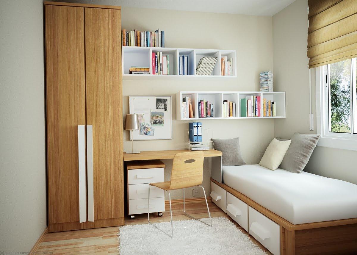 Màu trắng tinh khiết kết hợp màu nâu vật dụng nội thất đạo giúp cho gian phòng đậm chất sang trọng, phóng khoáng