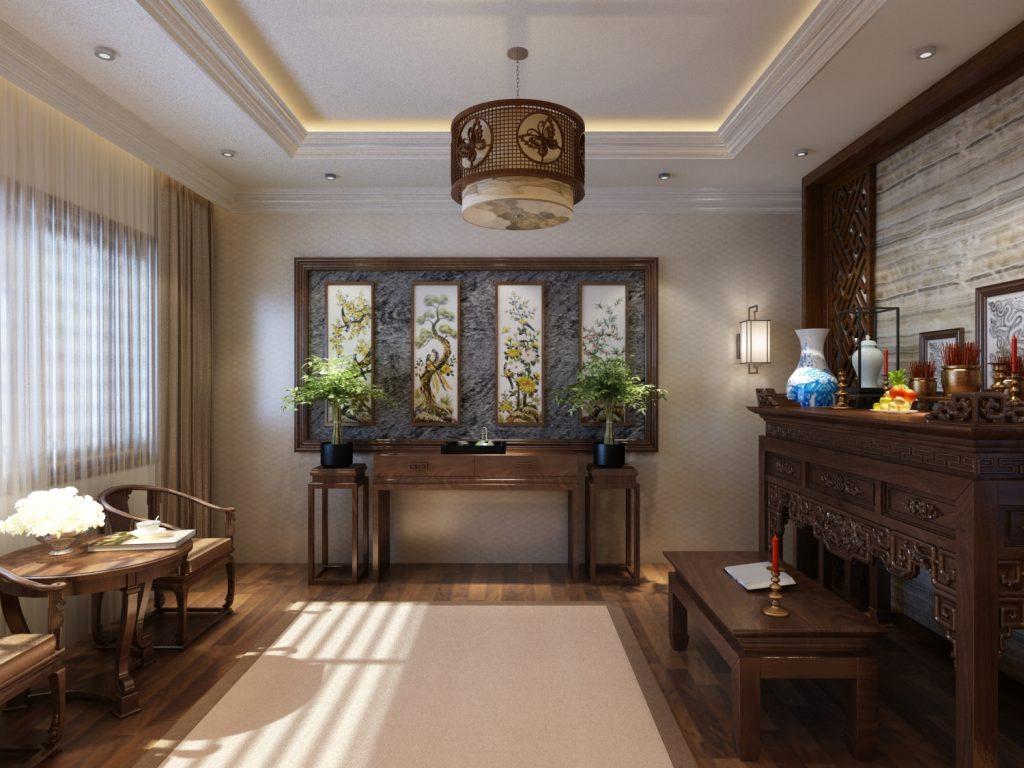 Theo mẹo trang trí biệt thự đẹp, gia chủ nên cân nhắc đặt vị trí bàn thờ ngay khi bắt đầu lên bản vẽ chi tiết