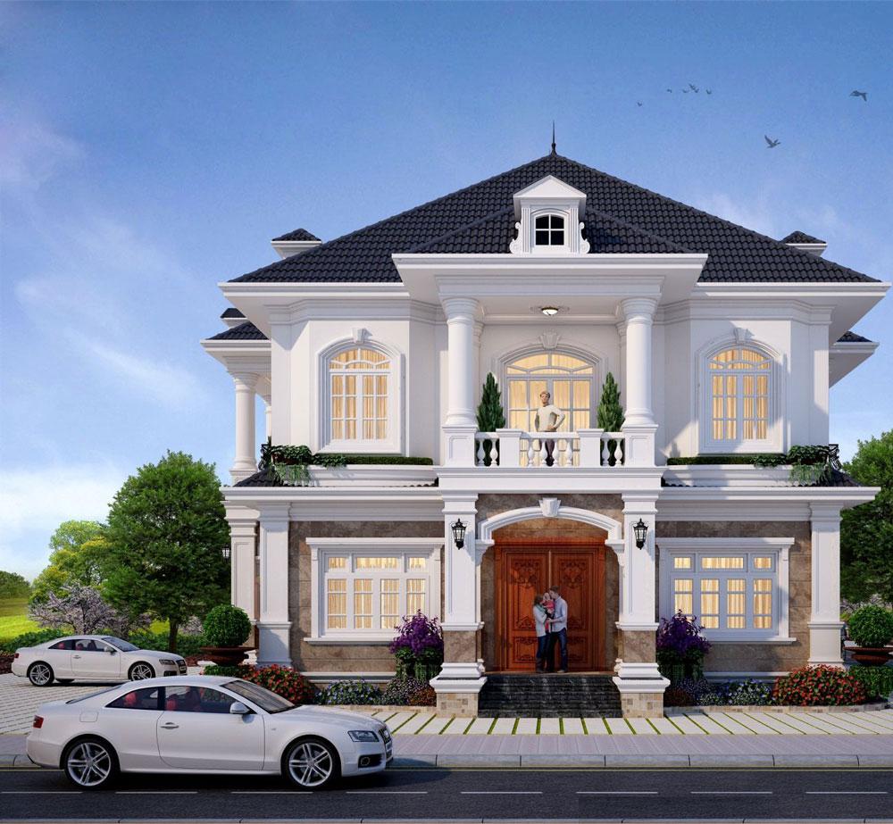 Nếu vận dụng góc nhìn từ đường chim bay xuống ngôi nhà, bạn có thể nhìn thấy được tổng thể của ngôi biệt thự một cách ấn tượng