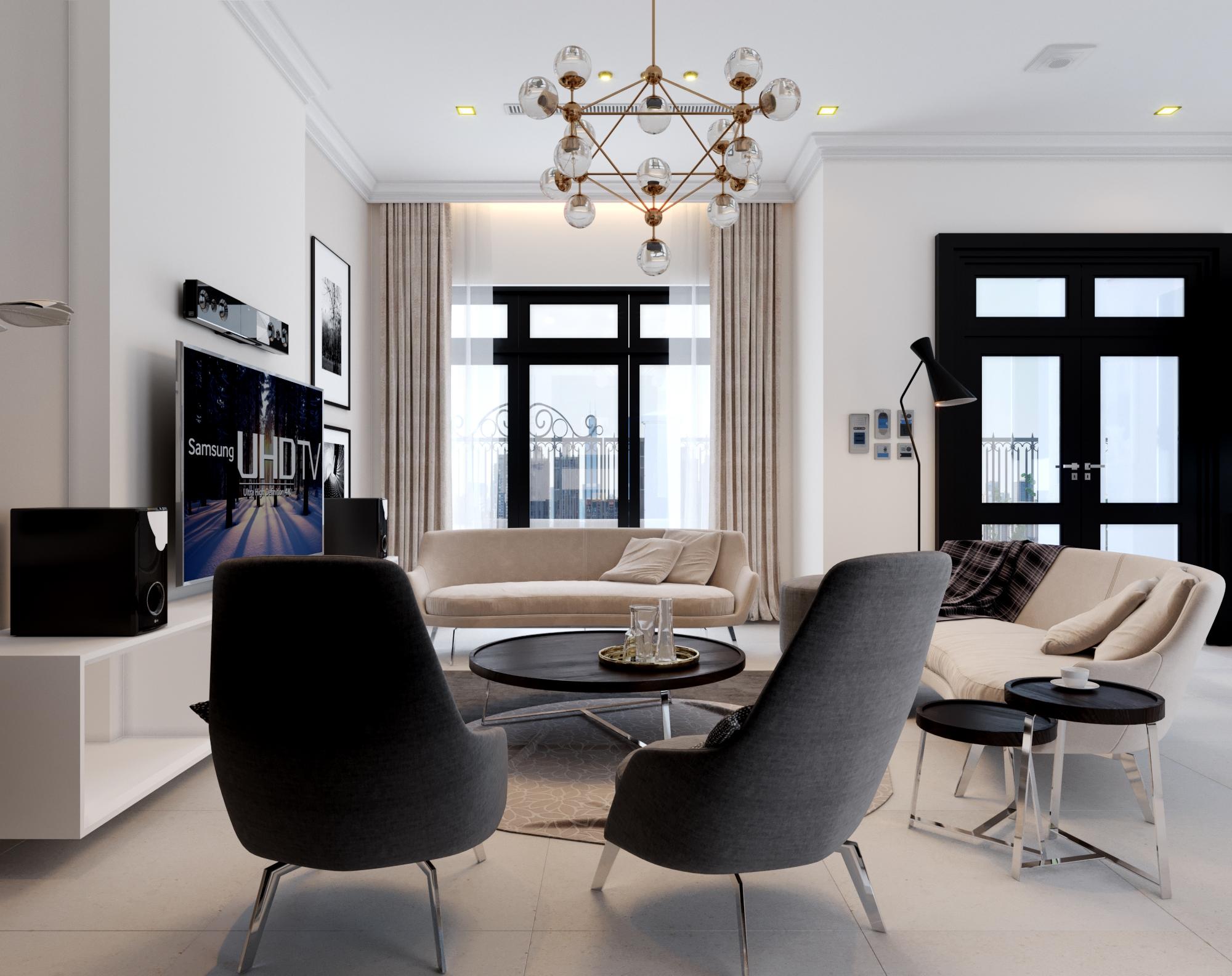 Sự trang trí tối giản, kết hợp ăn ý từ các vật dụng trong không gian nội thất khiến căn phòng trở nên cuốn hút, mãn nhãn người nhìn
