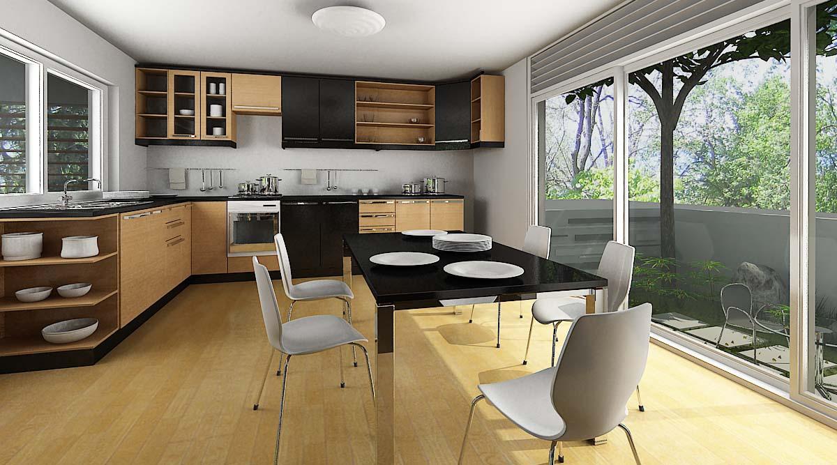 Khu vực phòng bếp thường sử dụng kính cường lực để giúp quá trình vệ sinh được tốt nhất