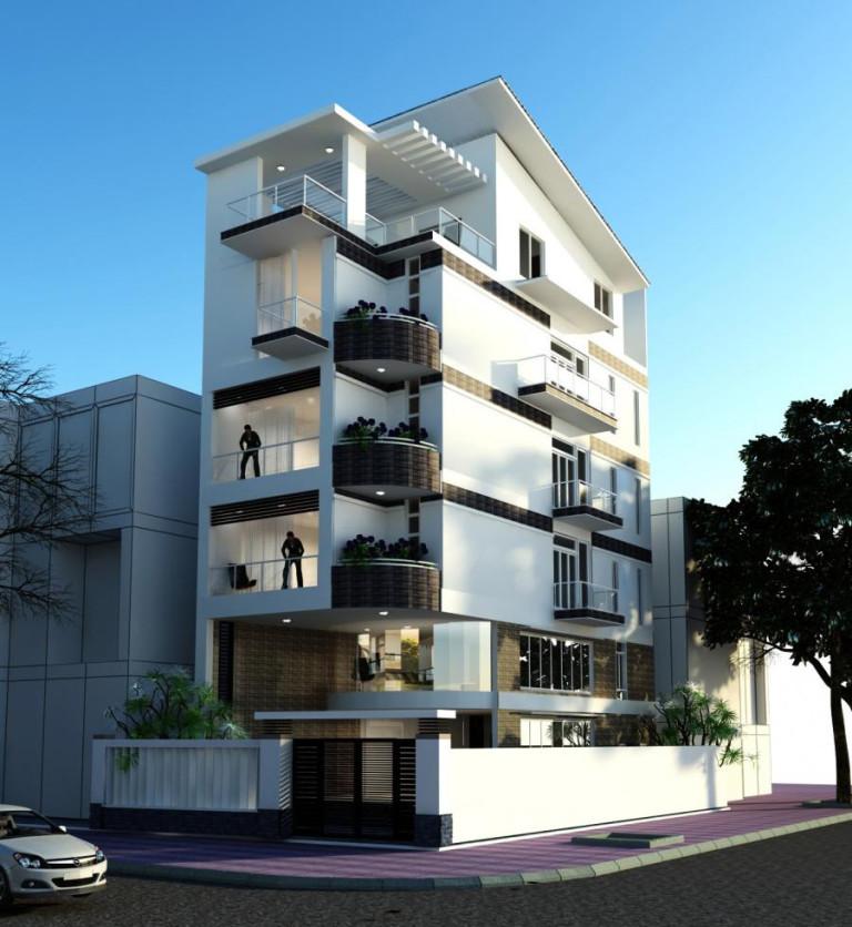Ngôi biệt thự 2 mặt tiền mang phong cách kiến trúc hiện đại với vật liệu trang trí ngoại thất cao cấp