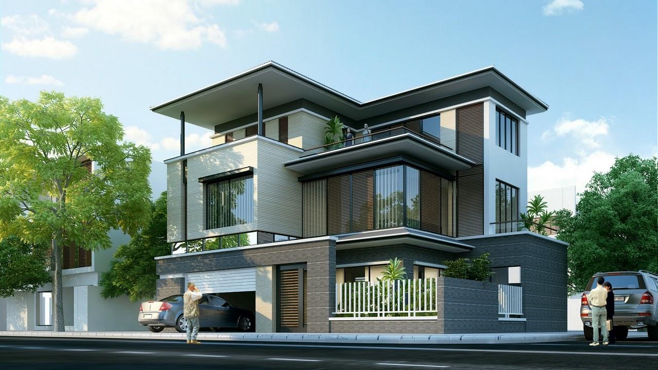 Đơn giản và sang trọng là những gì phong cách kiến trúc của ngôi biệt thự đẹp 2 mặt tiền mang đến cho chúng ta