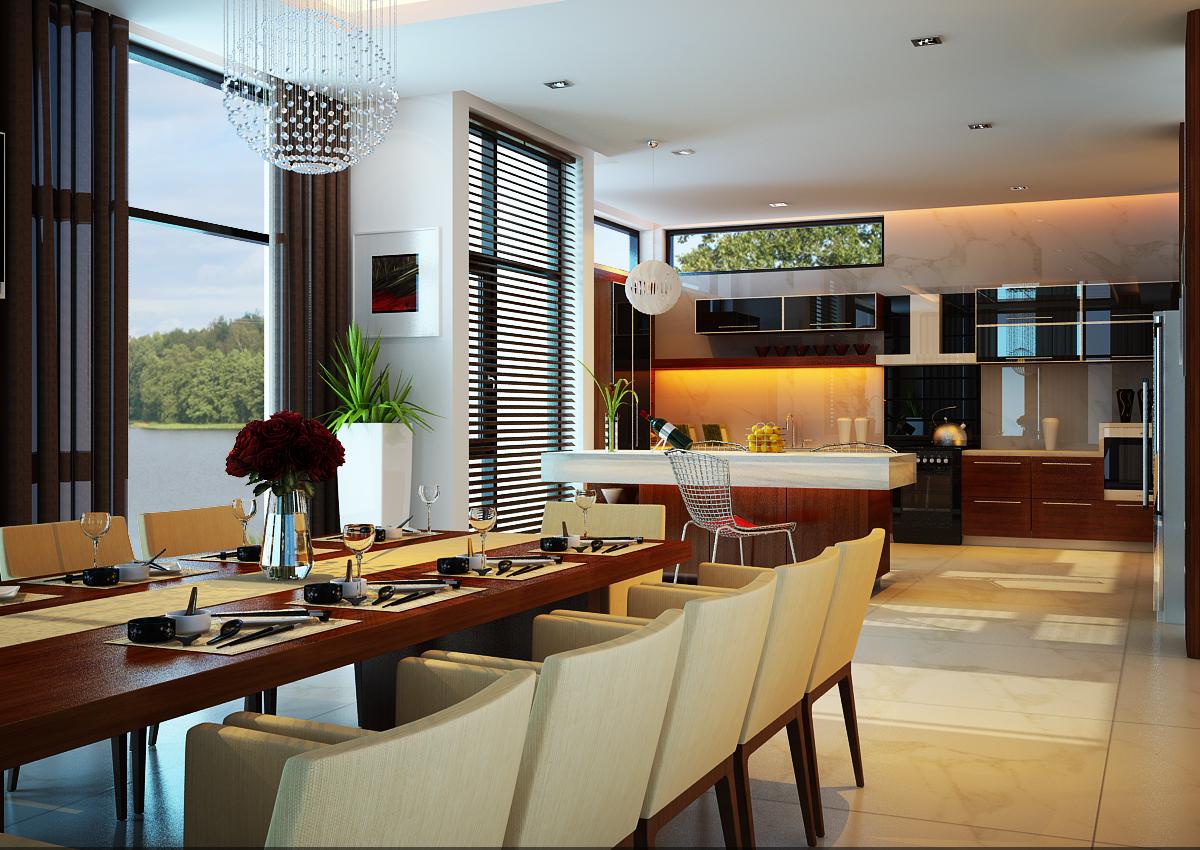 Phòng ăn không chỉ được xem là trung tâm của ngôi nhà mà còn là nơi giúp gia đình tụ họp và chia sẻ những câu chuyện đời thường