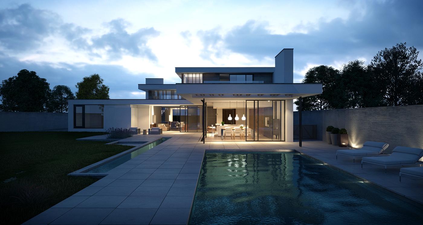Ngôi biệt thự thật sang trọng, lộng lẫy, có hồ bơi nho nhỏ sẽ khiến không gian tổng thể ngôi nhà trở nên tươi mới, mát mẻ hơn