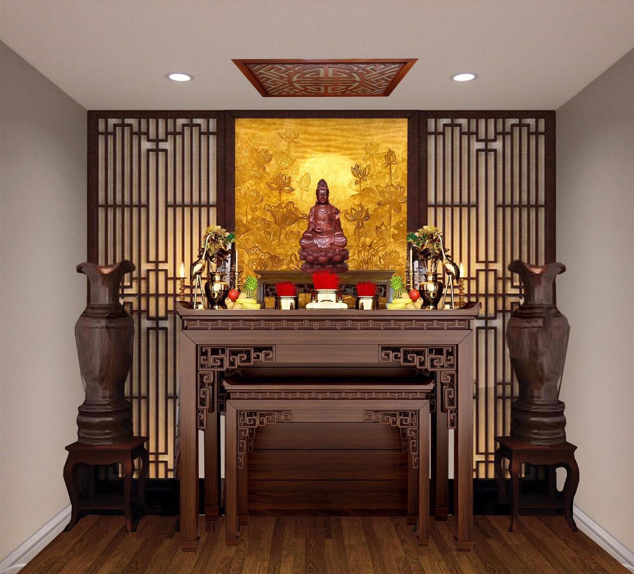Phòng thờ đóng vai trò đặc biệt quan trọng, là nơi có không gian trang trọng nhất trong ngôi nhà