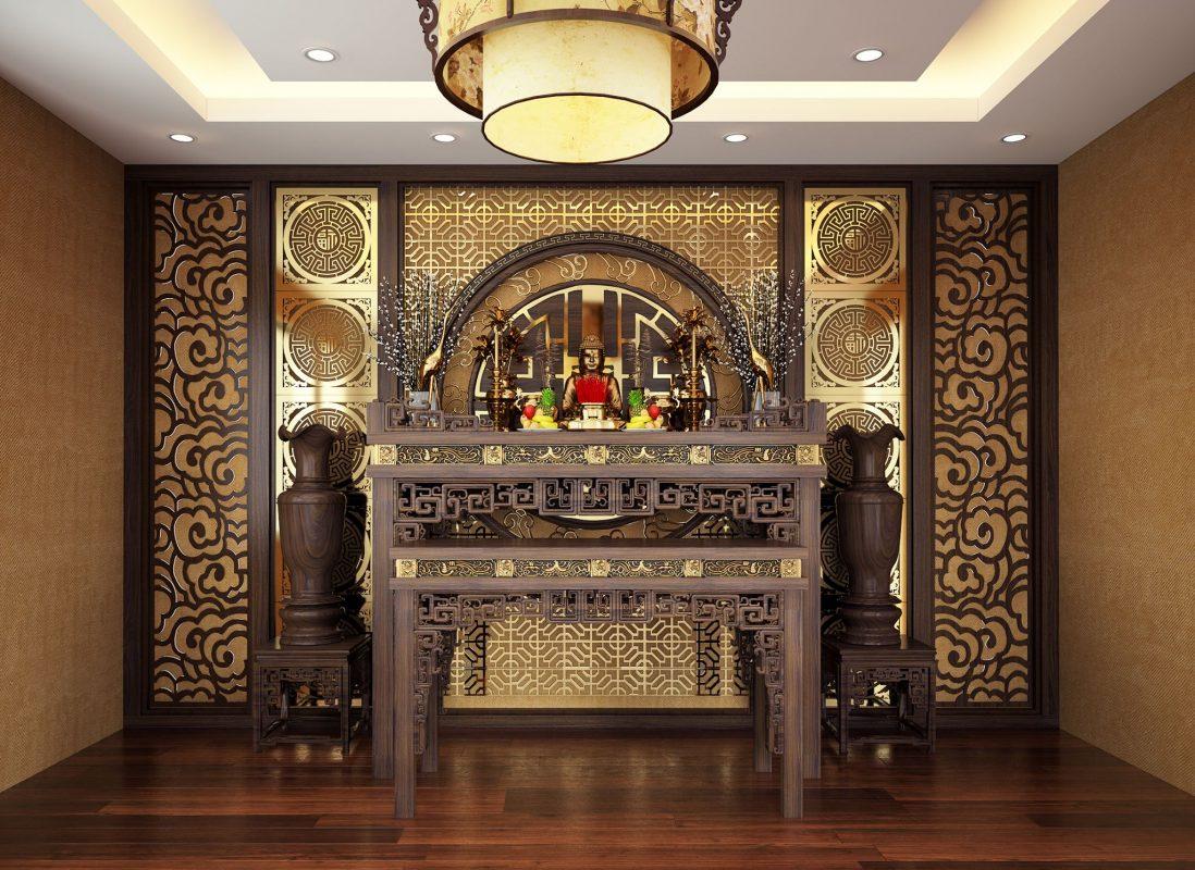 Trong ngôi nhà truyền thống của người Việt, bàn thờ tổ tiên thường đặt tại gian nhà chính