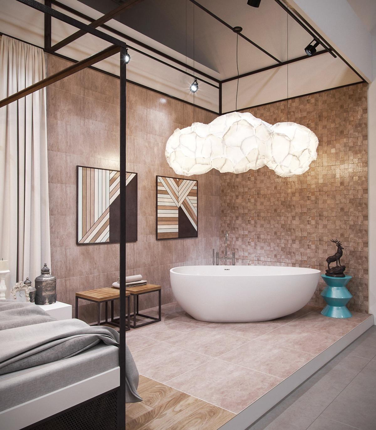 Ngoài công dụng giúp bạn thư giãn, ngâm mình trong nước, giảm bớt những căng thẳng, mệt mỏi thì bồn tắm còn mang đến bạn không gian thư giãn hoàn hảo