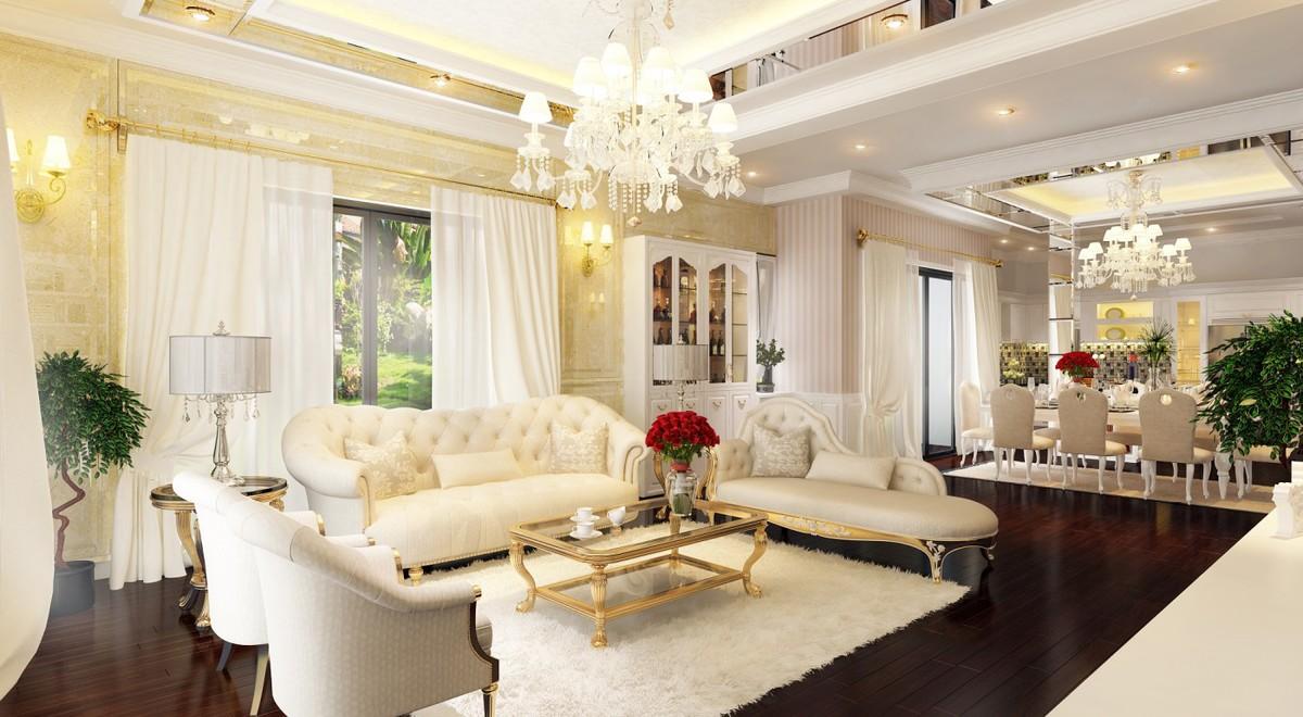 Các bức tường được sơn sáng màu, sàn nhà gỗ tự nhiên tươi sáng, nội thất được chọn lựa theo tiêu chí tiện dụng