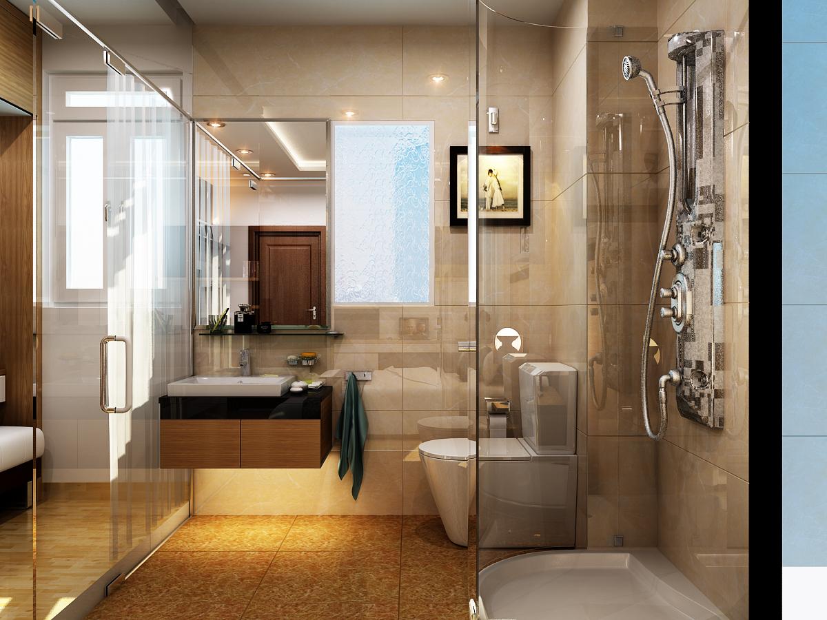 Gia chủ hãy trải nghiệm việc sử dụng vách kính để tách riêng khu vực phòng tắm
