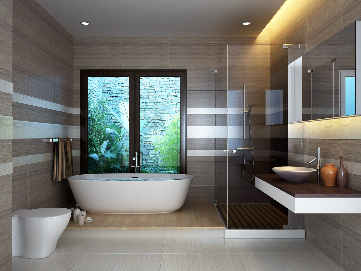 Một chiếc cửa sổ hoặc cửa thông gió sẽ giúp căn phòng tắm trở nên thoáng khí, trong lành