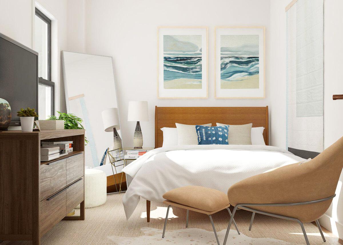 Màu sắc, chất liệu, hình dáng của vật dụng trong phòng ngủ được xem là những yếu tố góp phần làm nên sự tinh tế, trang nhã cho không gian phòng ngủ