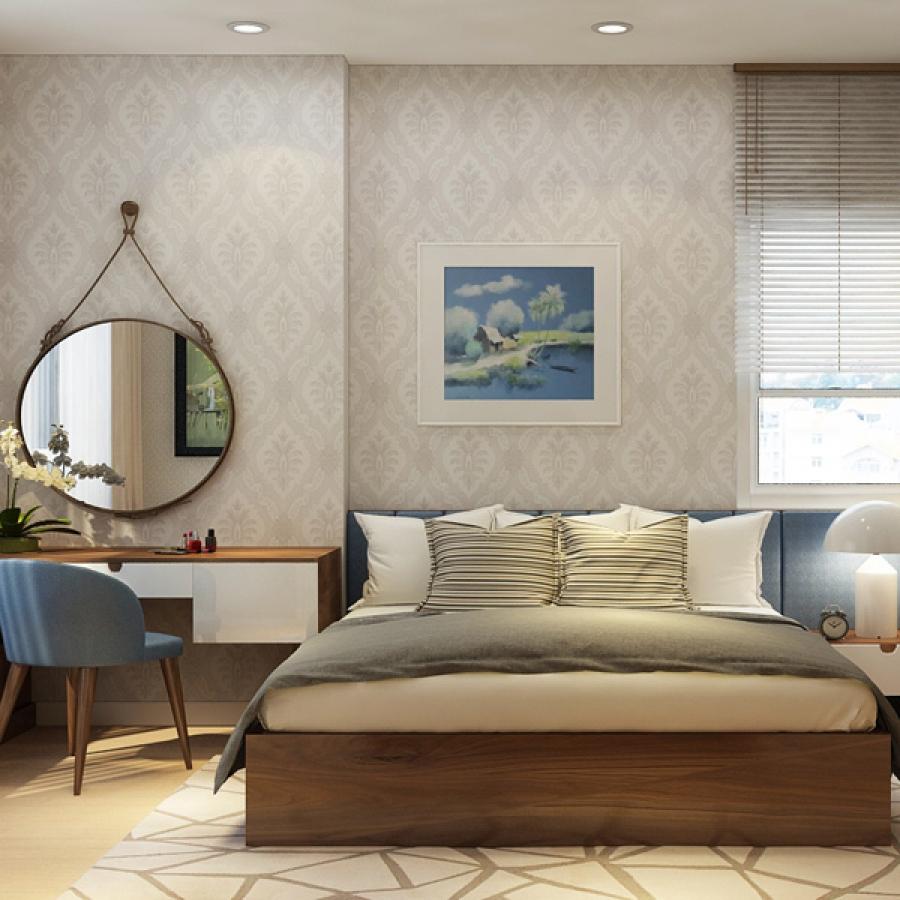 Ánh sáng tự nhiên sẽ giúp phòng ngủ nhỏ trở nên rộng rãi, thoáng đãng và trong lành hơn