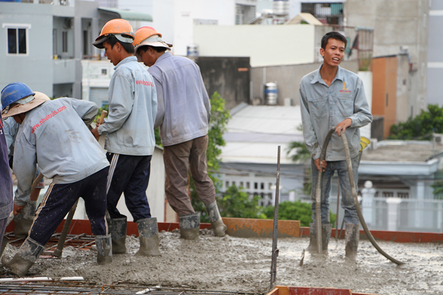 Thi công sàn bê tông biệt thự 3 tầng ở Quận Tân Phú - 12