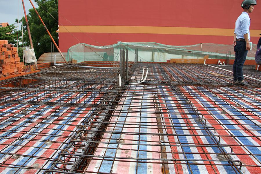 Thi công sàn bê tông biệt thự 3 tầng ở Quận Tân Phú - 5