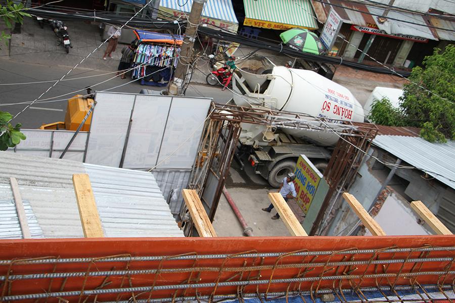 Thi công sàn bê tông biệt thự 3 tầng ở Quận Tân Phú - 4