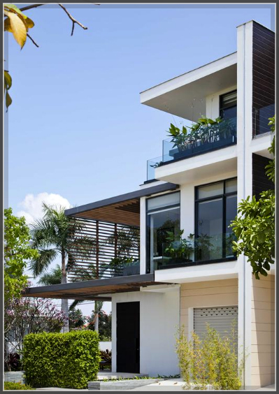 Mẫu thiết kế biệt thự 3 tầng tươi mát với thảm cỏ xanh mướt - 1