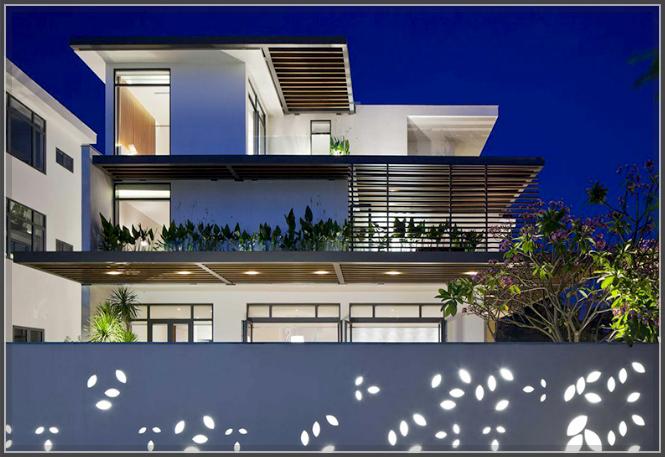 Mẫu thiết kế biệt thự 3 tầng tươi mát với thảm cỏ xanh mướt - 2