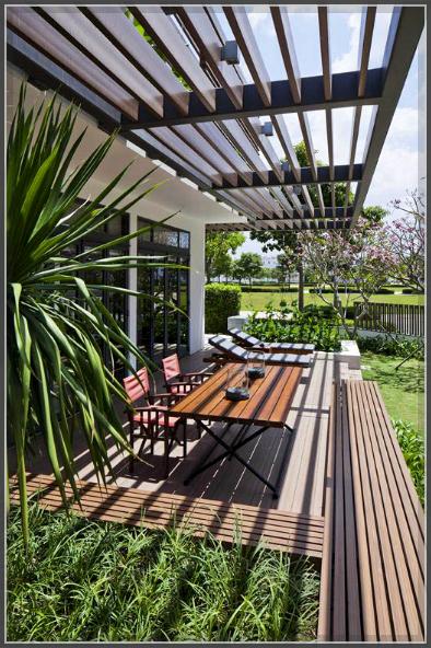 Mẫu thiết kế biệt thự 3 tầng tươi mát với thảm cỏ xanh mướt - 3