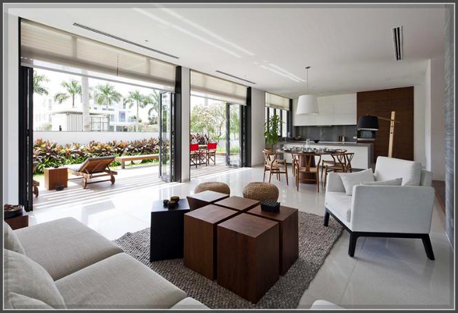 Mẫu thiết kế biệt thự 3 tầng tươi mát với thảm cỏ xanh mướt