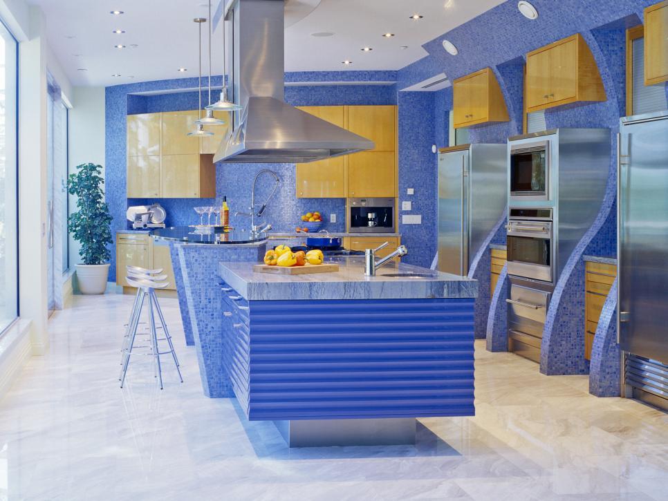 Thiết kế bếp đa sắc màu tăng hứng khởi khi chế biến món ăn ngon - 4