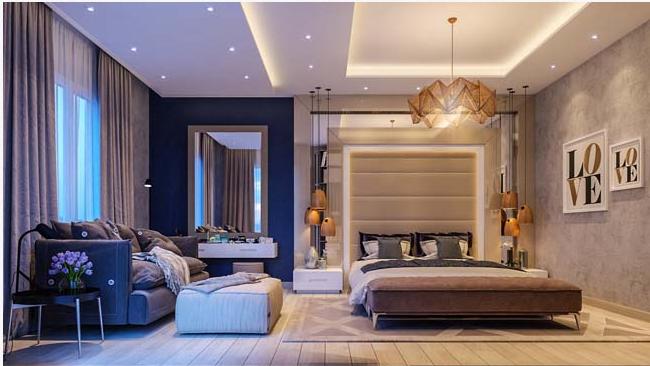 Các mẫu thiết kế phòng ngủ biệt thự theo phong cách hiện đại đẹp hút mắt - 1