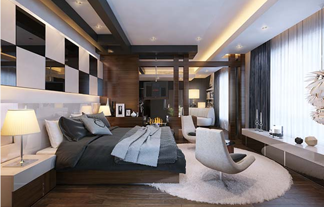 Các mẫu thiết kế phòng ngủ biệt thự theo phong cách hiện đại đẹp hút mắt - 2