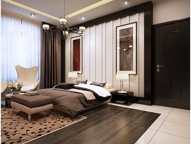 Các mẫu thiết kế phòng ngủ biệt thự theo phong cách hiện đại đẹp hút mắt - 4