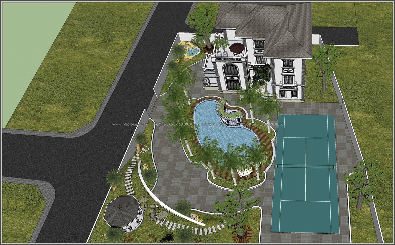 Thiết kế biệt thự hồ bơi 3 tầng 2 mặt tiền đẳng cấp tại Củ Chi - 11