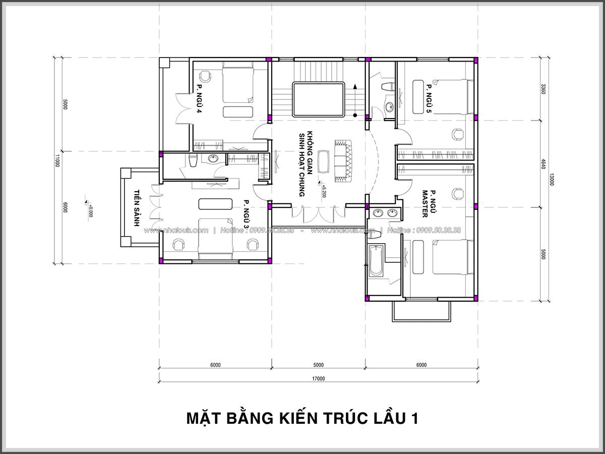 Thiết kế biệt thự hồ bơi 3 tầng 2 mặt tiền đẳng cấp tại Củ Chi - 5