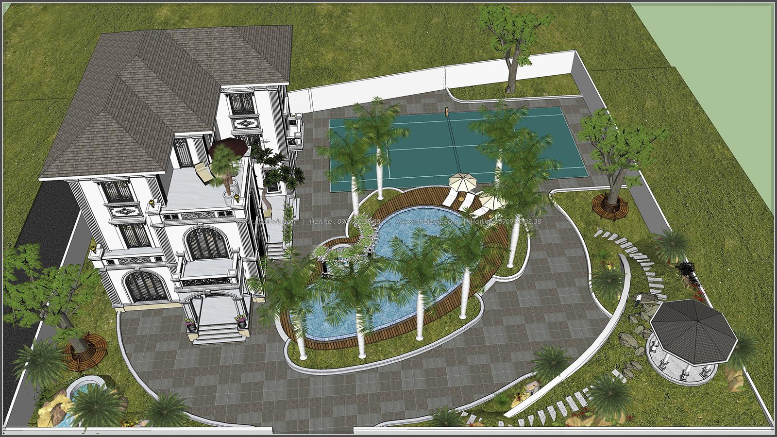 Thiết kế biệt thự hồ bơi 3 tầng 2 mặt tiền đẳng cấp tại Củ Chi - 7