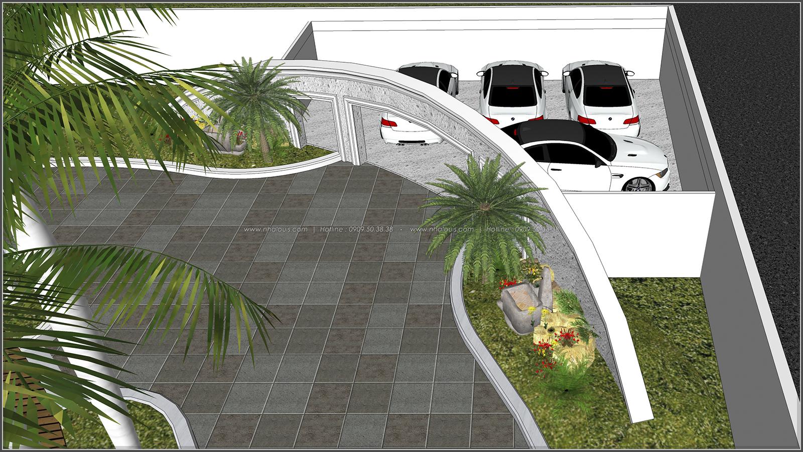 Thiết kế biệt thự hồ bơi 3 tầng 2 mặt tiền đẳng cấp tại Củ Chi - 9