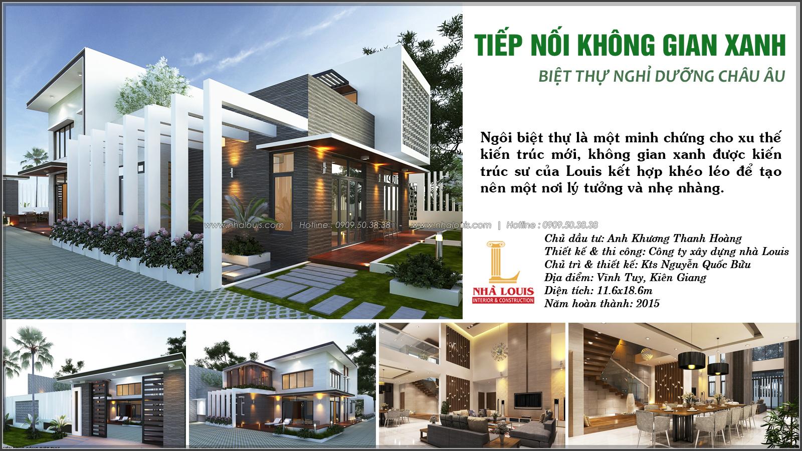 Thiết kế biệt thự nhà vườn 2 tầng phong cách Châu Âu tại Kiên Giang - 1