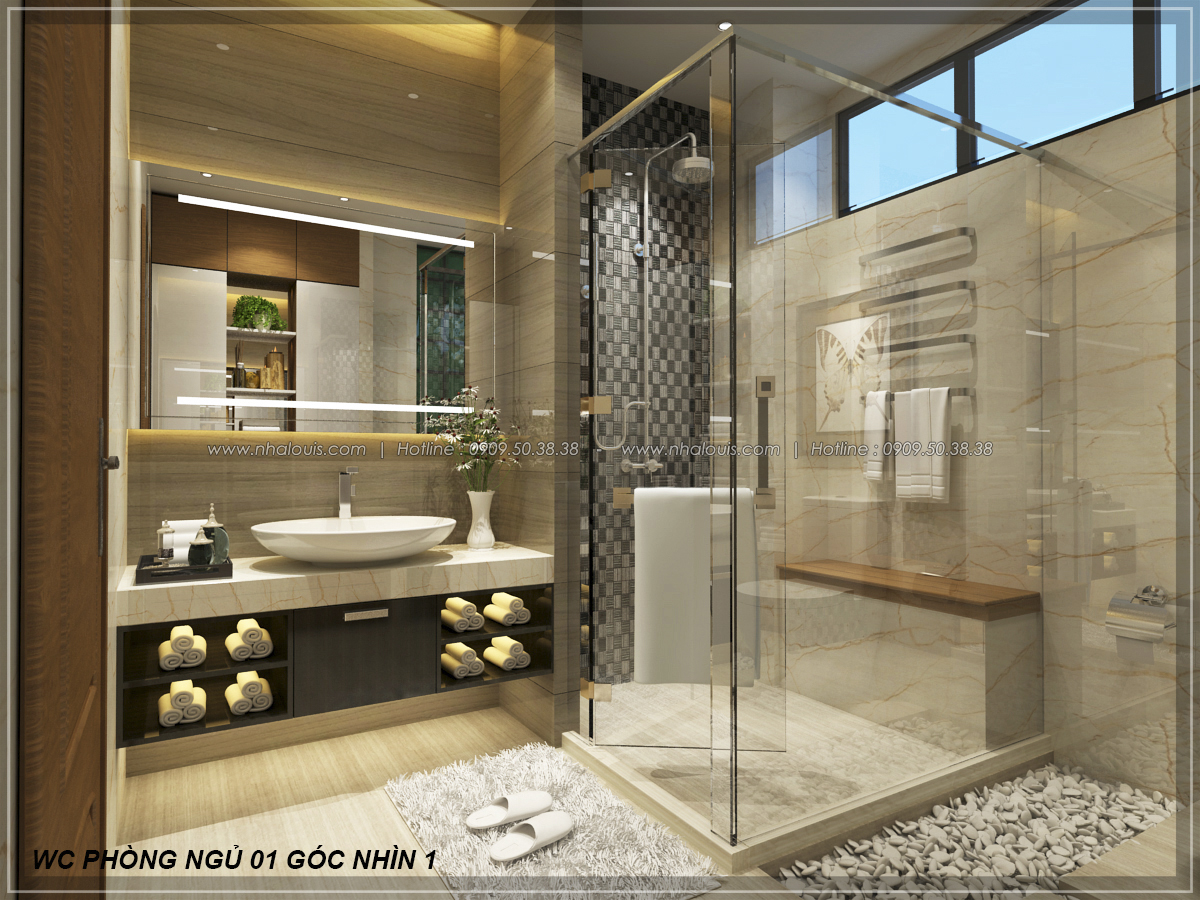 Thiết kế biệt thự nhà vườn 2 tầng phong cách Châu Âu tại Kiên Giang - 21
